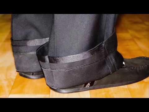 Как укоротить мужские брюки в домашних условиях видео