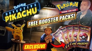 EXCLUSIVE POKEMON CARDS BOOSTER PACK AT NEW DETECTIVE PIKACHU MOVIE PREMIERE! CARLS STILL MISSING!