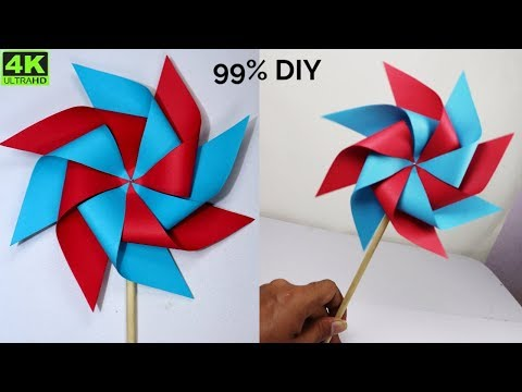 How to Make a Paper Windmill || DIY Paper Windmill || Paper Pinwheel at home