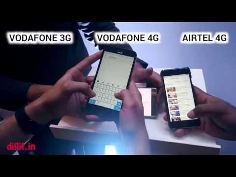 Vodafone 3G vs Vodafone 4G vs Airtel 4G