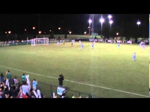 Colin Bonner sends Dell onto goal number 1 vs UNC Chapel Hill