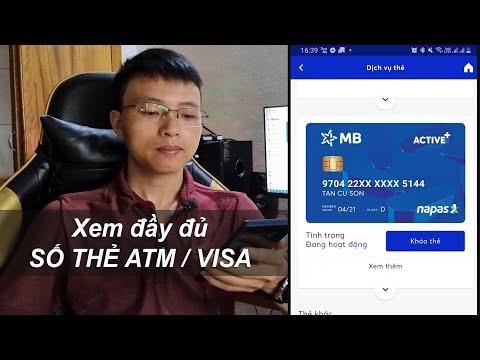 Cách xem số thẻ MBBank online trên ứng dụng