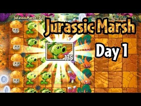 Plants vs Zombies 2 - Jurassic Marsh Day 1: Primal Peashooter