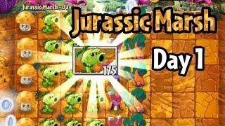 Plants vs Zombies 2 - Jurassic Marsh Day 1: Primal Peashooter
