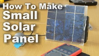 How Make Small Solar Panel