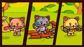Ударный отряд КОТЯТ - Лига ВОИНОВ #1. Мультик ИГРА Strike Force Kitty FineBabyTV