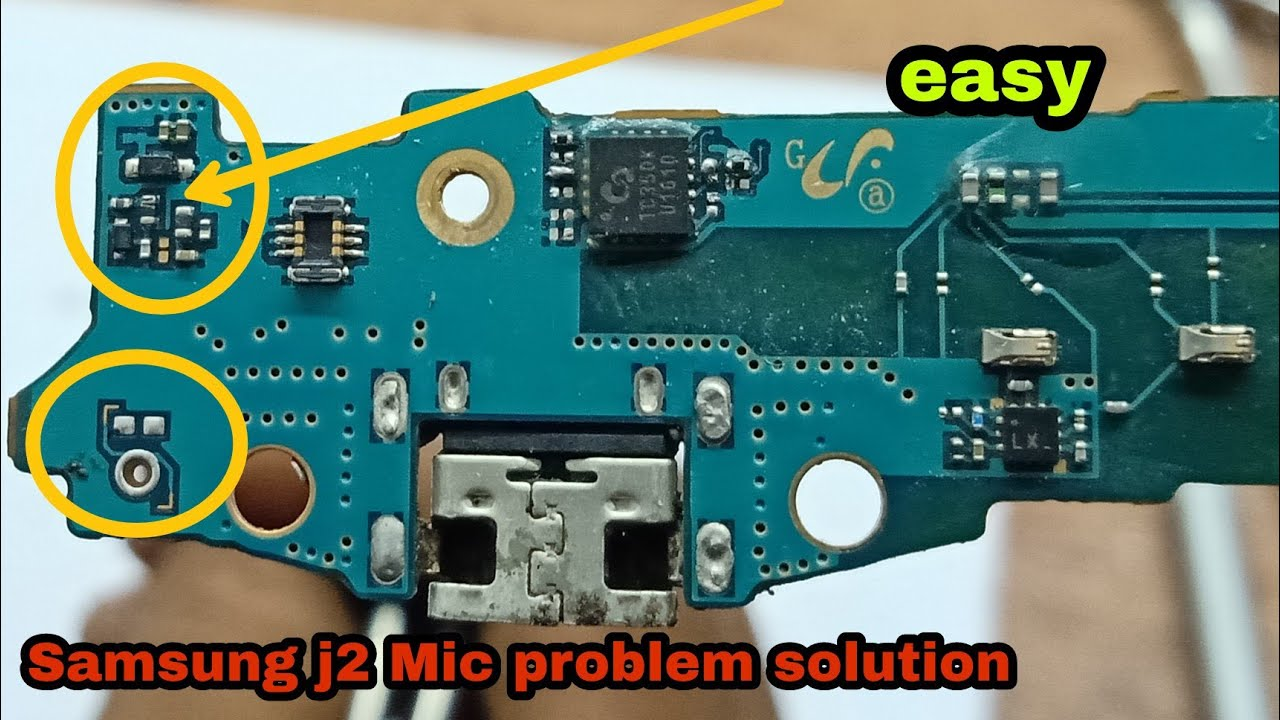 Samsung j2 mic solution  YouTube