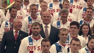 Торжественные проводы сурдлимпийской сборной команды России в Самсун 2017. С субтитрами
