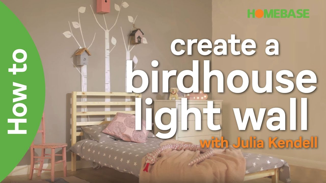 Bedroom Ideas Homebase how to create a diy birdhouse light wall with julia kendell