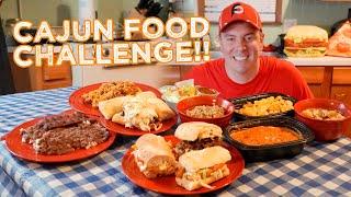 Cajun Creole Food Challenge w/ Gumbo, Etouffee, Jambalaya, & Po boys!!