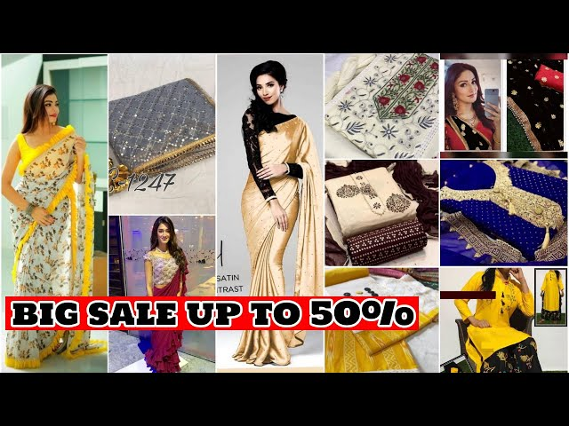 BIG SALE Designer Saree/ Salwar Kameez/ Kurtis/ Lehenga Choli@Upto 50%OFF #prititrendz #limitedstock