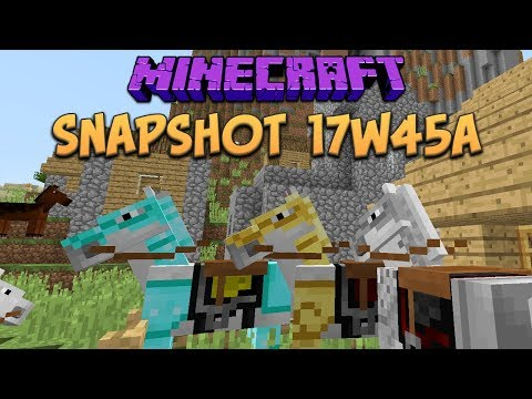 Minecraft 1.13 Snapshot 17w45a: 4K Support, New Horse Model & New Command System