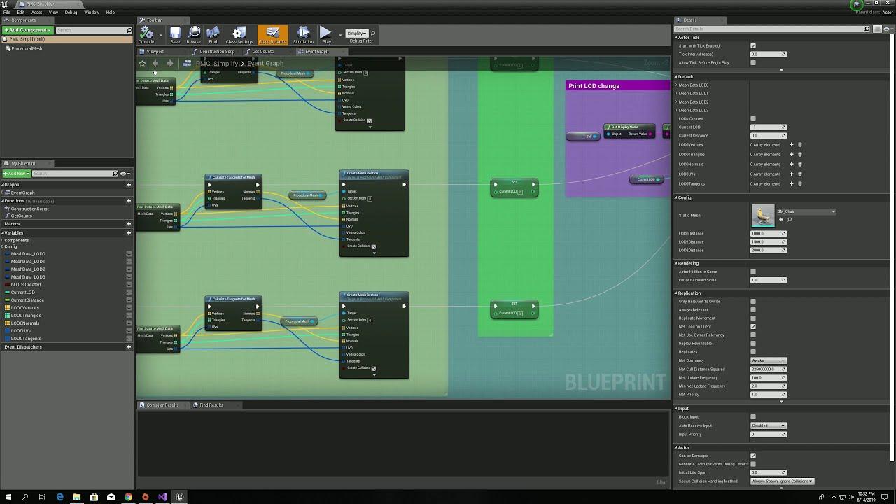 Unreal Engine - Procedural Mesh Simplifier - Showcase & Example