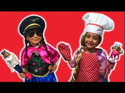 PRINCESSES CAN BE ANYTHING | Dress Up | Barbie Dolls | Princesses In Real Life | Kiddyzuzaa