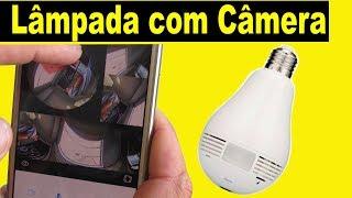 Lâmpada com Câmera - Instalação fácil