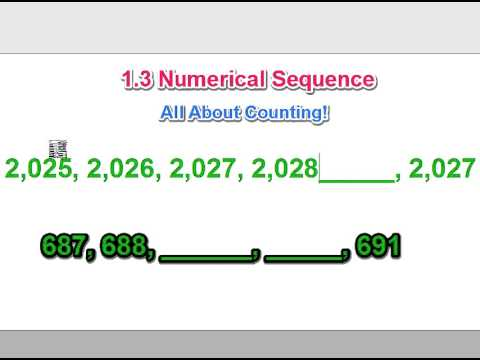 Mr. Teal's Class - Numerical Sequence