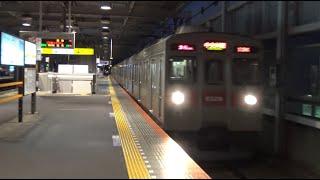 古い車両が急行を担うことで轟音を上げながら北越谷駅を通過する東武伊勢崎線上り東急8500系