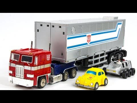 Transformers G1 MP-10V Downsized Optimus Prime Tactical Container Bumblebee Vehicle Car Robot Toys