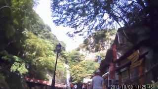 電動アシスト自転車 ハリアで行く 箕面の滝。