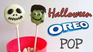 [Halloween Recipe 萬聖節食譜] How to make Halloween Oreo Pop  萬聖節Oreo棒