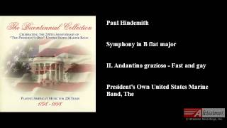 Paul Hindemith, Symphony in B flat major, II. Andantino grazioso - Fast and gay