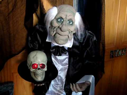 4ft animated talking butler skull motion activated halloween party prop decoration - Talking Skull Halloween