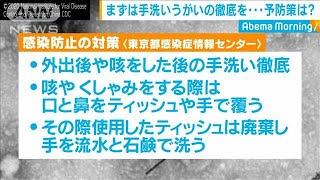 """""""新型肺炎""""感染防止に「手洗い、うがい」徹底を(20/01/29)"""