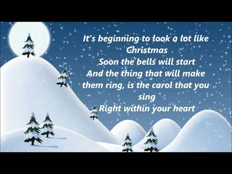 Johnny Mathis - It's Beginning To Look A Lot Like Christmas (Lyrics)