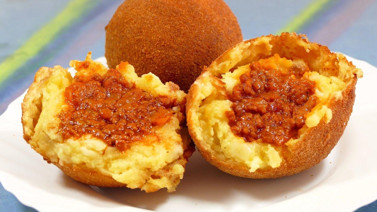 Receta bolas de papa rellenas de carne molida recetas de cocina faciles rapidas y economicas - Rectas de cocina faciles ...