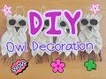 DIY Owl Decoration, Owl craft wall hanging craft - A Gift Idea