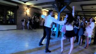 pokaz tańca na weselu dwór Hubertus Piotr Cygroń i Weronika