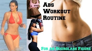 ab workout routine for curves hourglass figure at home