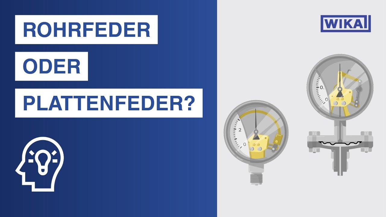Wie funktioniert ein Manometer? | Rohrfeder vs. Plattenfeder