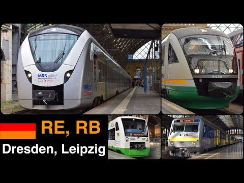 RE, RB Departing From Leipzig, Dresden Hbf