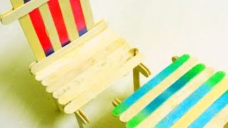 How To Make A Popsicle Stick Chair And Table Set - Diy Crafts Tutorial - Guidecentral