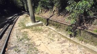 Encosta Norte do Corcovado, Floresta da Tijuca - problemas de drenagem - desmoronamentos.