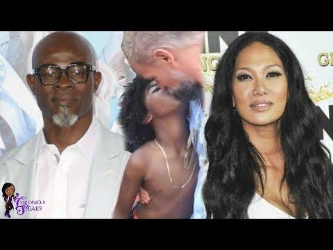 Kimora Lee Simmons Son KISSES  Step Dad On Lips While REAL Dad Djimon Hounsou Fights For Visitation