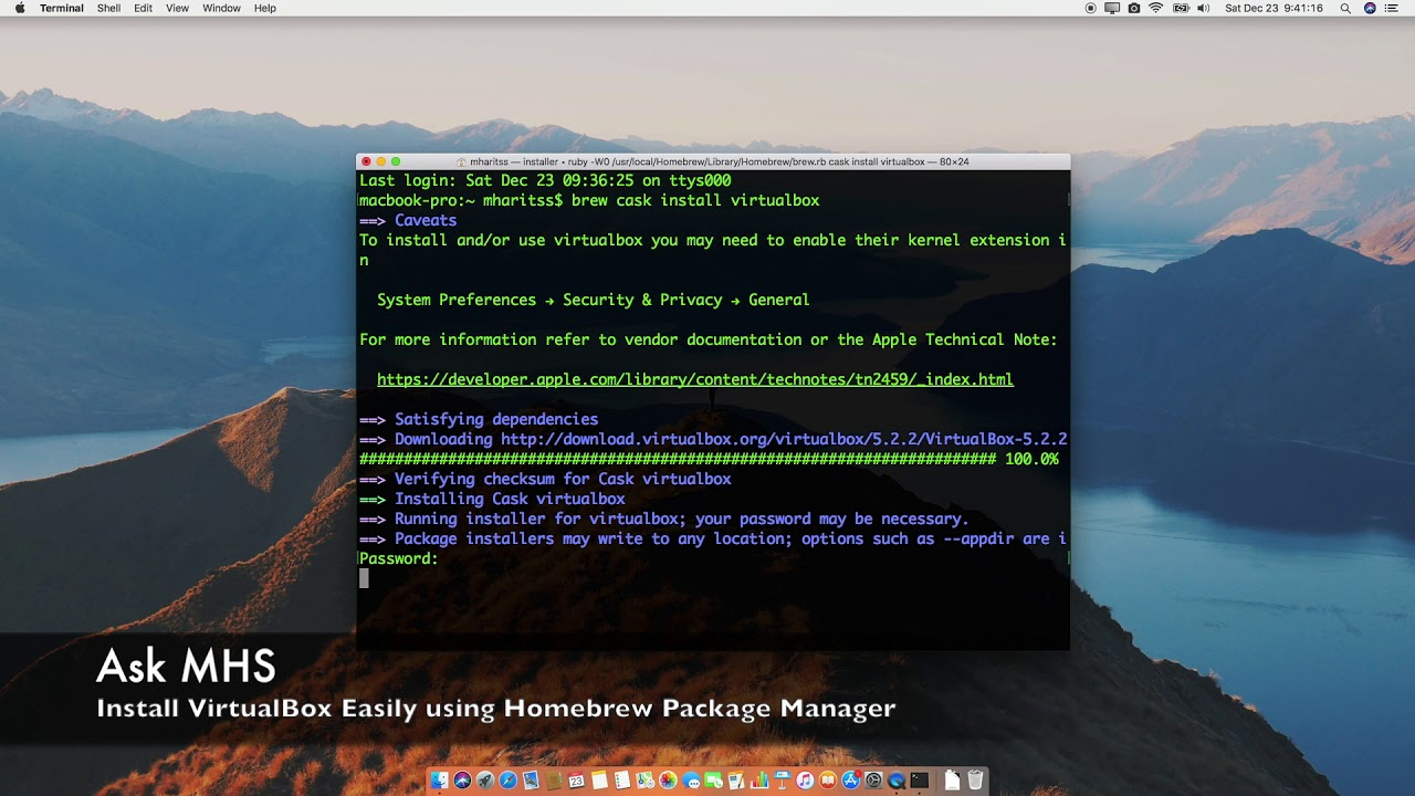 Install VirtualBox Easily using Homebrew Package Manager in macOS High  Sierra
