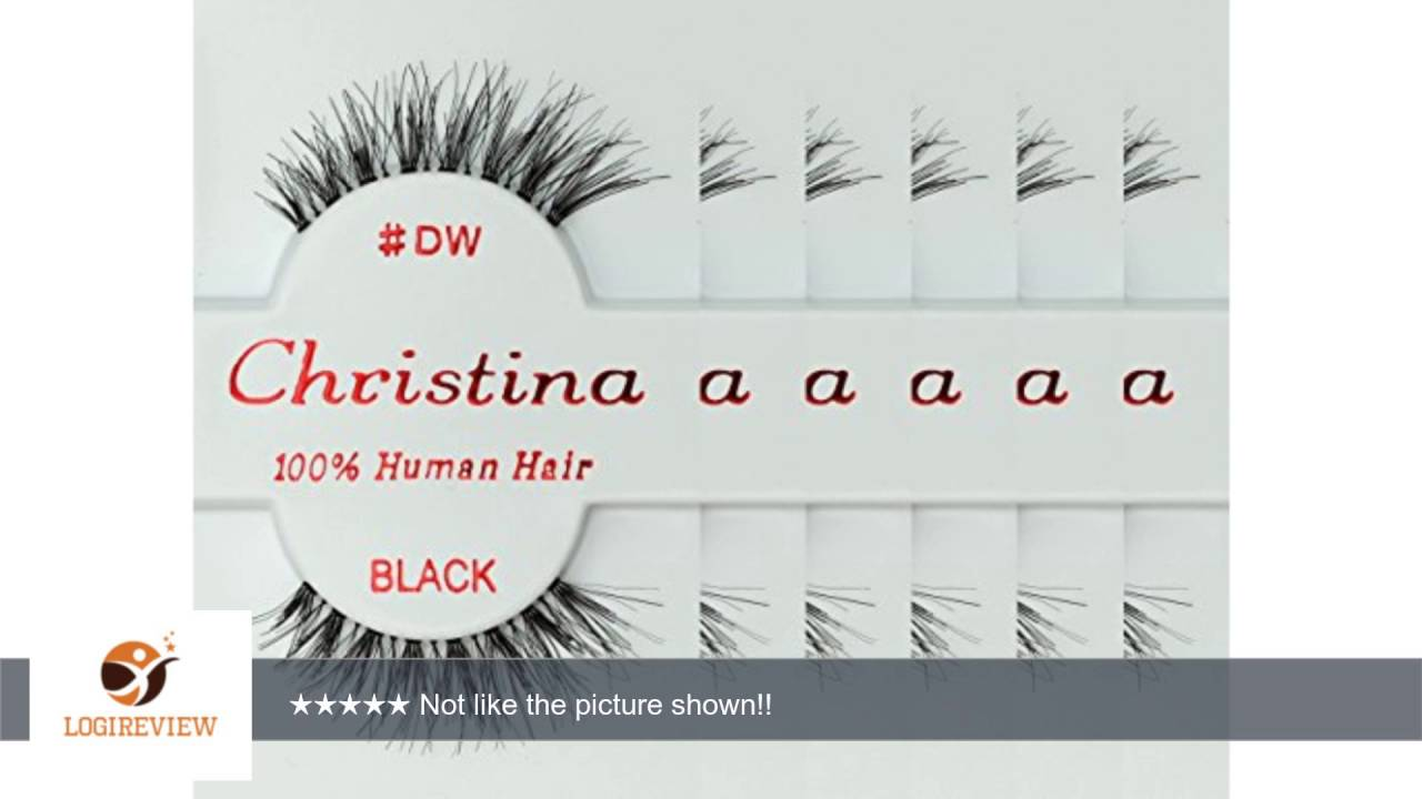 f3f002d9092 Christina 6 Pack False Eye Lashes Style DW | Review/Test - YouTube