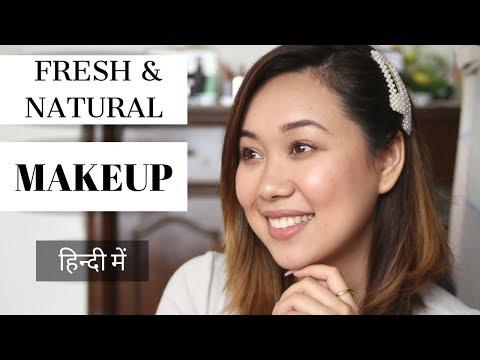 Easy And Affordable Fresh, NATURAL Makeup   Lilmissgurung HINDI thumbnail