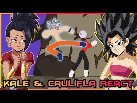 Kale And Caulifla React To Goku Vs Jiren Stick Fight Pt. 2!!