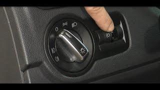 VW Polo Sedan - Как снять блок управления корректором фар