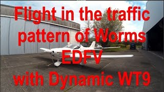 ✈ Flight in traffic pattern of Worms EDFV with Dynamic WT9 and ATC