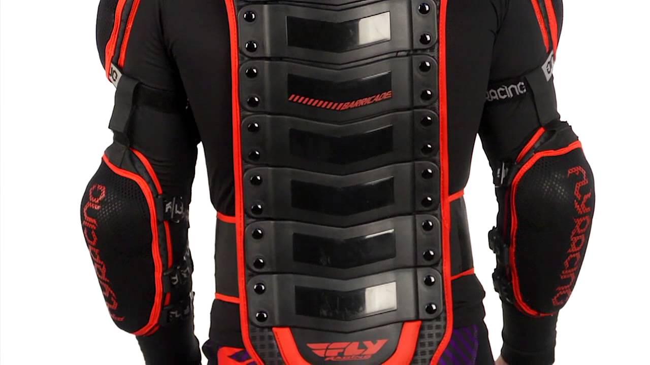 Best Motorcycle Armor >> 2014 FLY Barricade Body Armor - Long Sleeve Motocross ATV Dirt Bike Chest Protector - YouTube