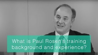 What is Paul Rosen's training, background and experience?