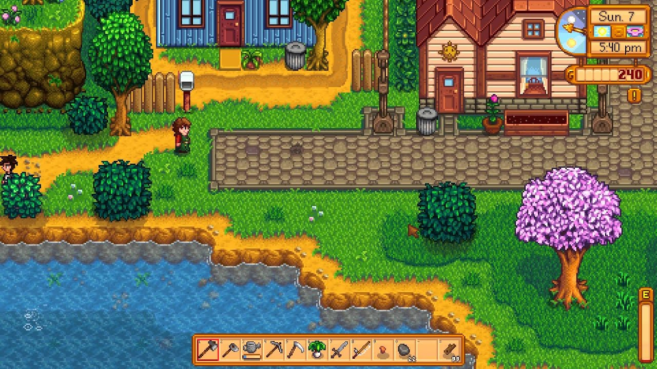 stardew valley how to get to the mines
