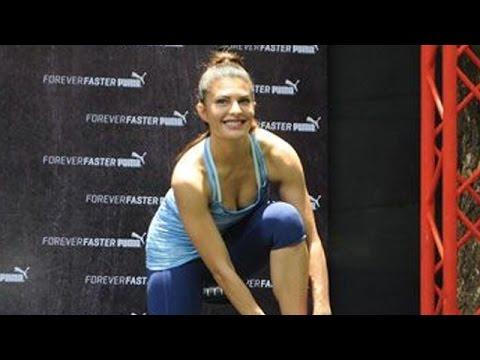 HOT Jacqueline Fernandez's Workout Session @ Puma Launch