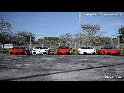 My Day Driving 5 Lamborghini's