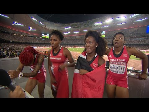 WCH 2015 Beijing - Team Trinidad and Tobago 4x100m Relay Women Final Bronze