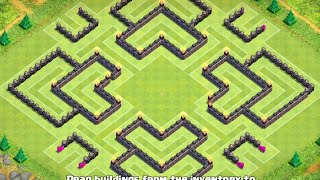 TH10 Trophy Base (After Update - 275 Walls) - Clash Of Clans